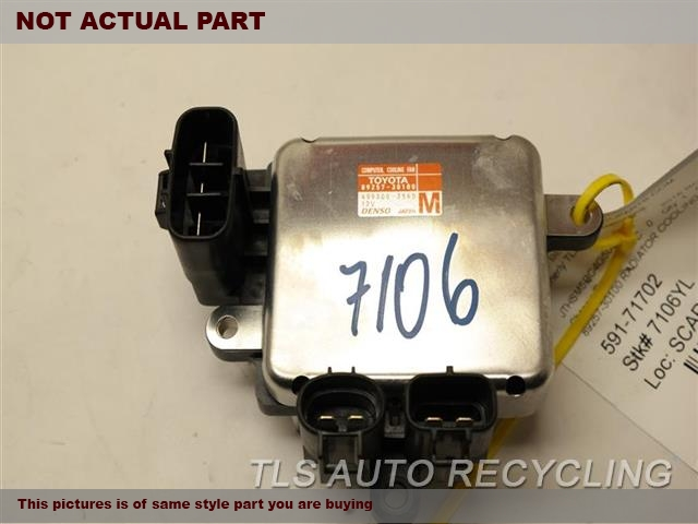 2015 Lexus IS 250 Chassis Cont Mod. 89257-30100 COOLING FAN COMPUTER