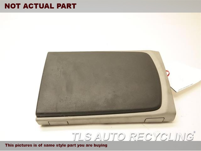 BLACK LEATHER CONSOLE LID