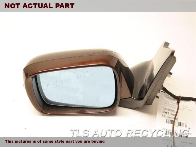 2010 Acura MDX Side View Mirror. 76250S-TXA-A110LH,BLK,PM,POWER, (HEATED),