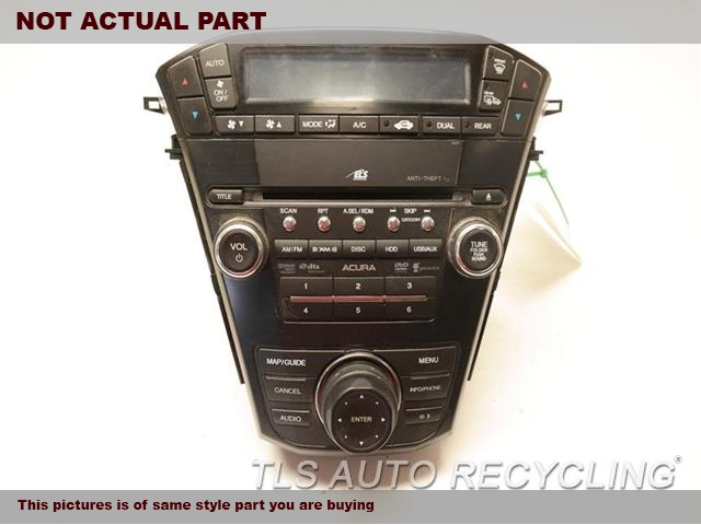 2010 Acura MDX Radio Audio / Amp. 39101STXA61RECEIVER, TECH, VIN 6 (8TH DIGIT)