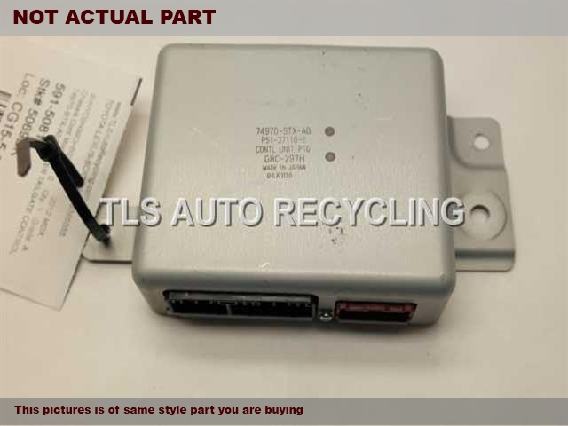 2008 Acura MDX Chassis Cont Mod. 74970-STX-A02 POWER TAILGATE CONTROL