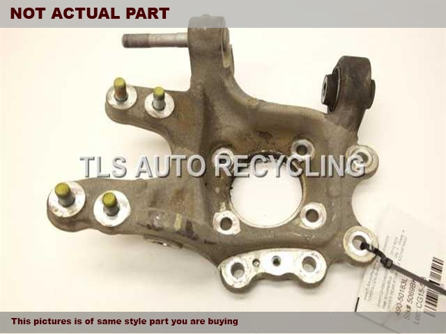 2008 Acura MDX rear nuckle / stub axle. 52215STXA02  42200STXA02DRIVER REAR KNUCKLE W/HUB