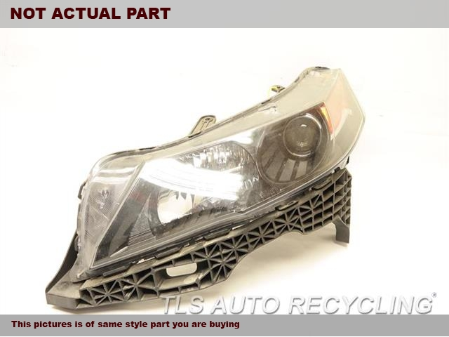 2012 Acura TL Headlamp Assembly. DRIVER SIDE HEADLAMP 33151TK4A11