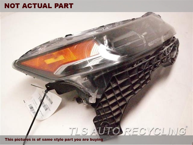 2012 Acura TL Headlamp Assembly. NEED BUFF, GLASS HAS MINOR HEAT STRESS CRACKSRH. HID HEADLAMP