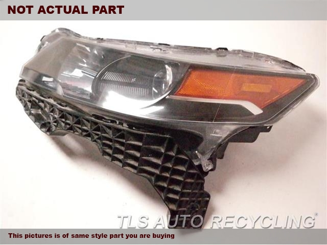 2012 Acura TL Headlamp Assembly. NEED BUFF, GLASS HAS MINOR HEAT STRESS CRACKSLH. HID HEADLAMP