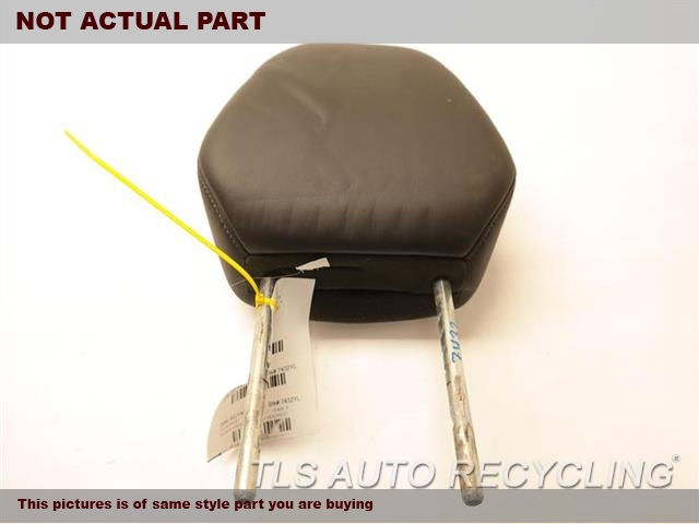BLACK FRONT LEATHER HEADREST