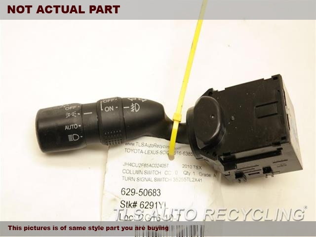 2009 Acura TSX Column Switch. TURN SIGNAL SWITCH 35255TL2X41