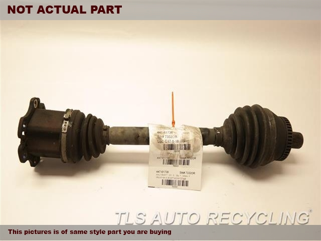 2008 Audi A4 AUDI Axle Shaft. RIPPED BOOTFRONT AXLE SHAFT 8E0407271BE