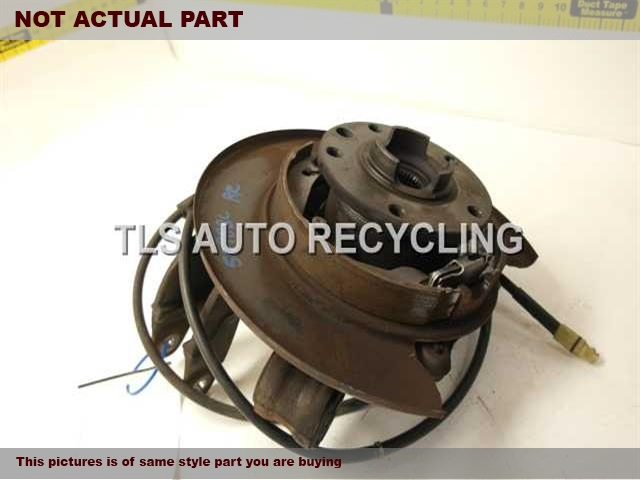 2008 Audi Q7 AUDI rear nuckle / stub axle. 7L8505436A  7L0501655BPASSENGER REAR KNUCKLE W/HUB