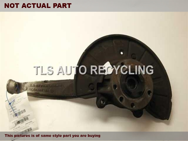2008 Audi Q7 AUDI Spindle Knuckle, Fr. 7L8407257A 7L0498287DRIVER FRONT SPINDLE KNUCKLE W/HUB