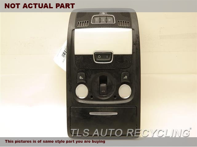 2010 Audi S5 AUDI Console front and Rear. BLACK OVERHEAD CONSOLE 8T0947139H6PS
