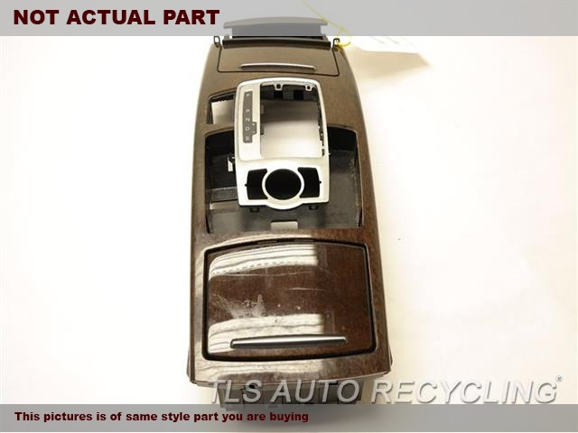 2008 Audi A6 AUDI Console front and Rear. 4F0864245AE25DBLACK CENTER CONSOLE LID LEATHER