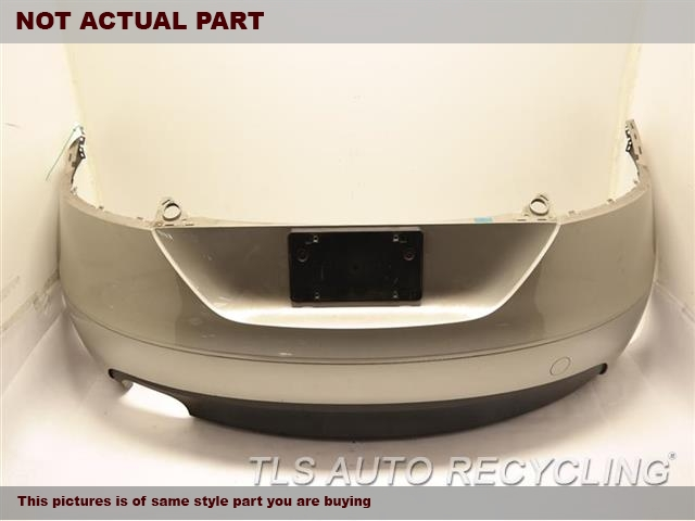 2008 Audi Tt Audi Bumper Cover Rear    000,BLK,W/O PARK ASSIST, US MARKET