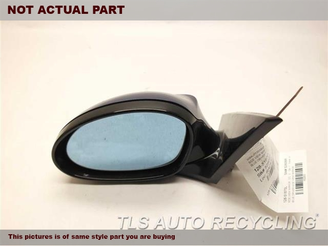 2008 BMW 135I Side View Mirror. LH,GRAY,PM,POWER, (HEATED), FIXED,