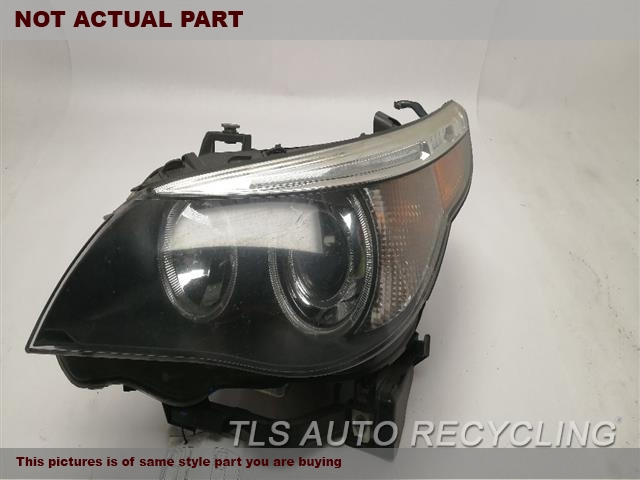 2006 BMW 550I Headlamp Assembly. HEADLAMP GLASS AFTER REPAIR, HOUSING HAS SMALL CRACK, DUST INSIDELH,XENON (HID), ADAPT. HEADLAMP NIQ