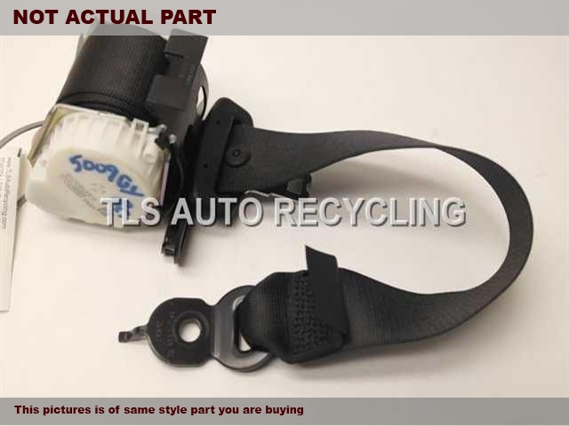 2012 BMW 550I Seat Belt rear. 72119163245BLACK REAR OUTER SEAT BELT