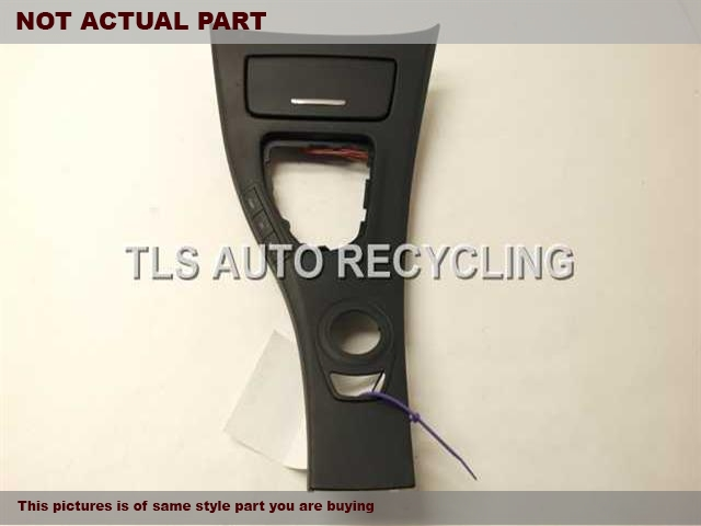 2008 BMW 335I Console front and Rear. BLACK CENTER CONSOLE LID 51167130686
