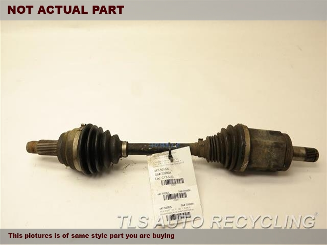 2009 BMW X6 Axle Shaft. LH,FRONT, L.