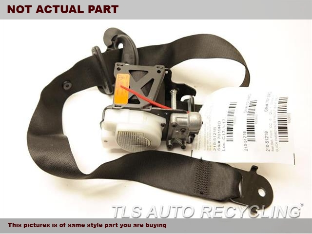 2009 BMW X6 Seat Belt front. BLK,(BUCKET), PASSENGER, RETRACTOR