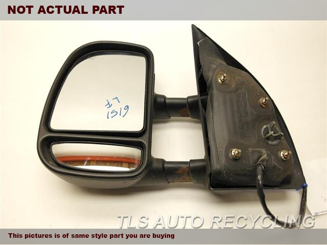 2004 Ford EXCURSION Side View Mirror. 1C7Z17683DAABLACK PASSENGER SIDE VIEW MIRROR