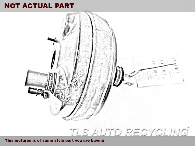 2014 Ford FUSION Brake Booster. 2.0L, VIN 9 (8TH DIGIT, TURBO)