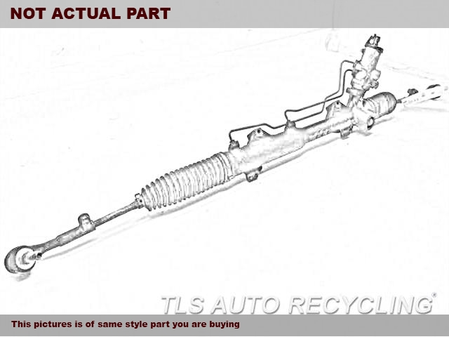2014 Ford FUSION Steering Gear Rack. POWER RACK AND PINION
