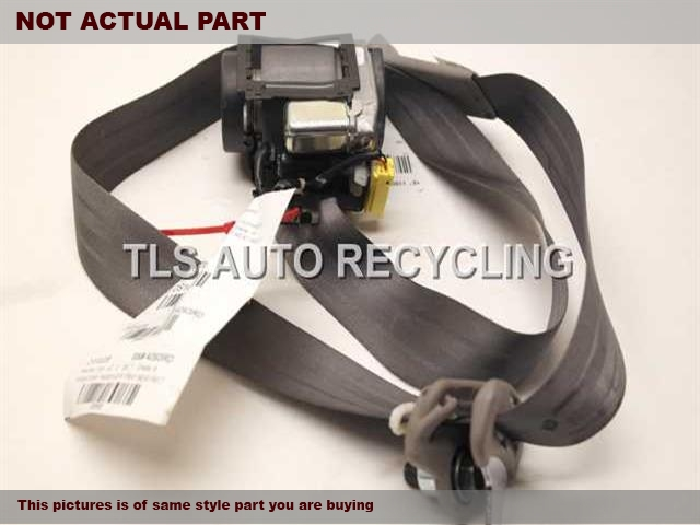LIGHT GRAY FRONT PASSENGER SEAT BELT