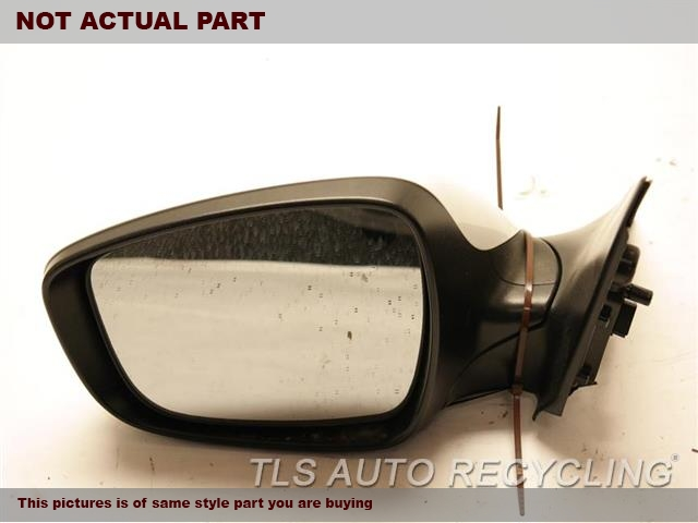 2013 Hyundai VELOSTER Side View Mirror. LH,BLK,PM,POWER, L., METAL ROOF, (B