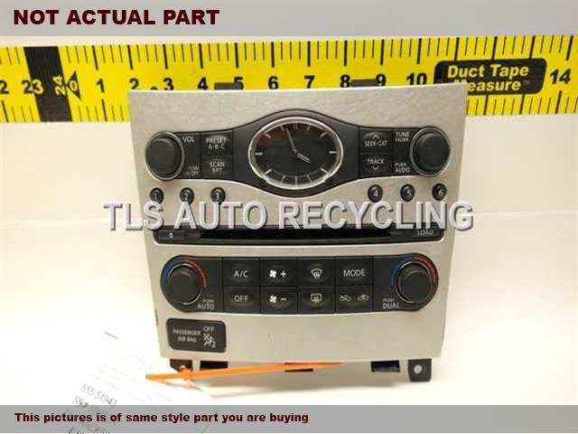 2007 Infiniti G35 Temp Control Unit. W/CLOCK 25391JK61B 258101CA1BTEMP UNIT & AUDIO CONTROL PANEL