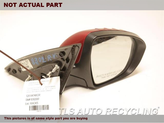 2015 Kia OPTIMAKIA Side View Mirror. RH,BLK,PM,POWER, US BUILT, POWER
