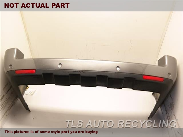 2012 Land Rover Range Rover Bumper Cover Rear    000,BLK,(PARK ASSIST), HSE