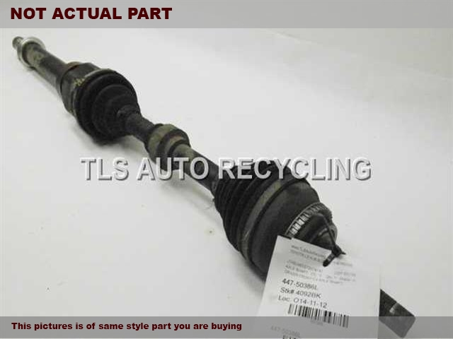 2010 Lexus ES 350 Axle Shaft. LH