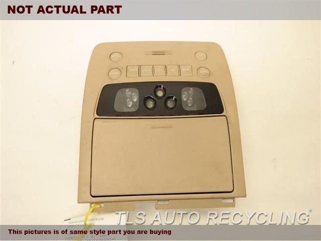 2007 Lexus GS 350 Console front and Rear. TAN OVER HEAD CONSOLE 81260-30832-A0
