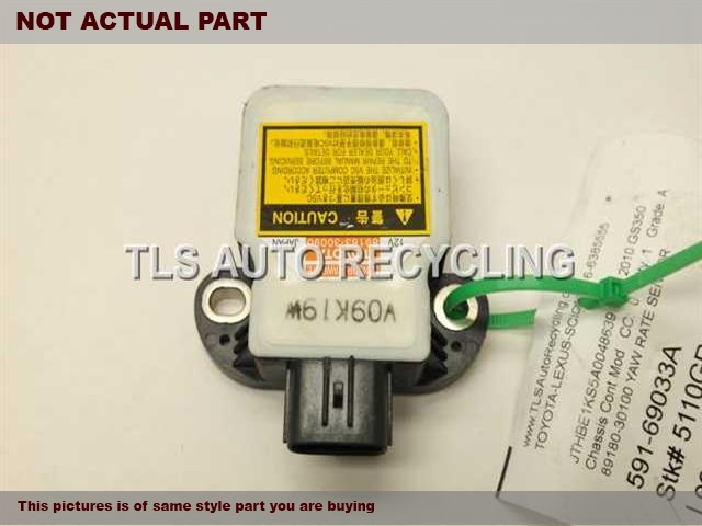 2007 Lexus GS 350 Chassis Cont Mod. 89180-30100 YAW RATE SENSOR