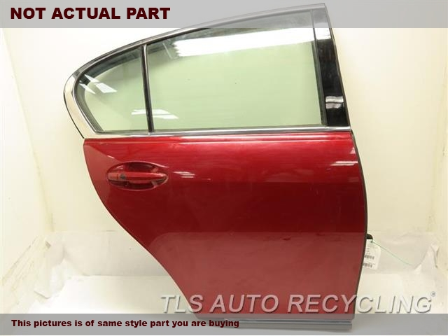 2007 Lexus GS 350 Door Assembly, Rear side. RED PASSENGER REAR DOOR W/HINGES