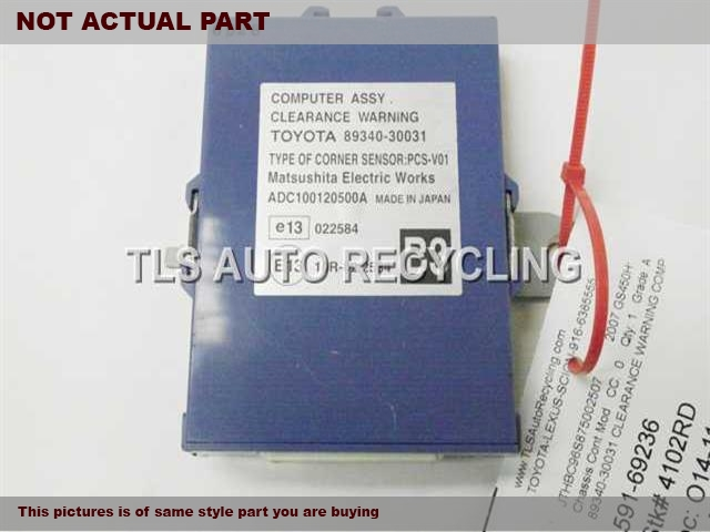 2006 Lexus GS 430 Chassis Cont Mod. 89340-30031 CLEARANCE WARNING COMP