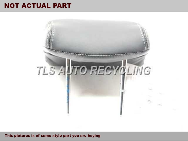 BLACK REAR OUTER LEATHER HEADREST