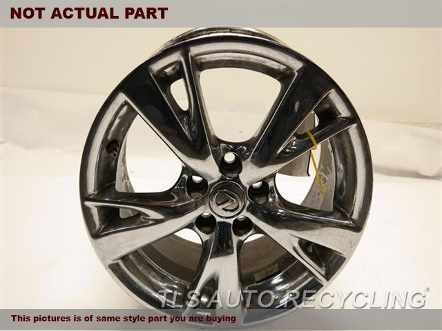 2009 Lexus IS 250 Wheel. OUTER EDGE HAS SCUFF 18X8 SPLIT POLISH 5 SPOKE
