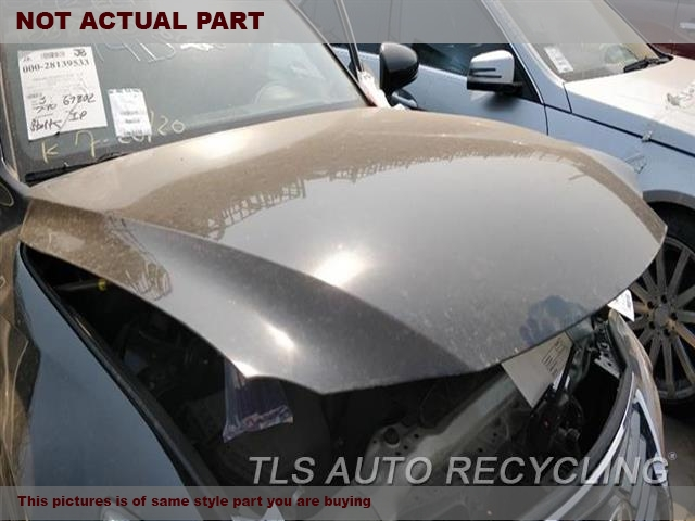 2014 Lexus IS 250 Hood. BENT, FRONT SECTION2E2,BLK,SDN
