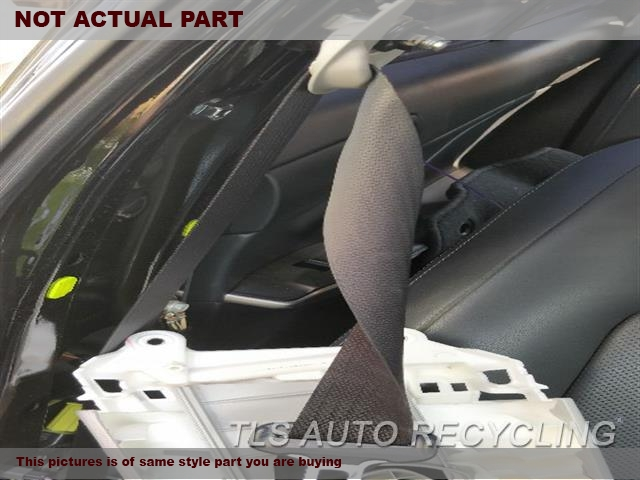 2014 Lexus IS 250 Seat Belt front. BLK,(BUCKET), SDN, PASSENGER, RETRA