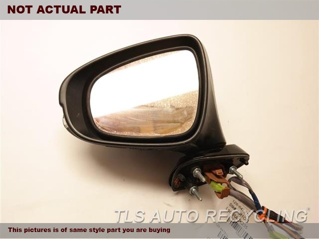 2017 Lexus IS200T Side View Mirror. LH,WHT,PM,(POWER), BLIND SPOT ALERT