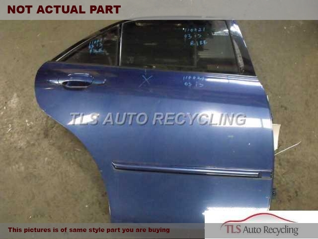 2003 Lexus Is 300 Door Assembly, Rear Side  000,RH,SLV,PW,PL,SDN, R.