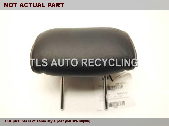 BLACK REAR CENTER LEATHER HEADREST