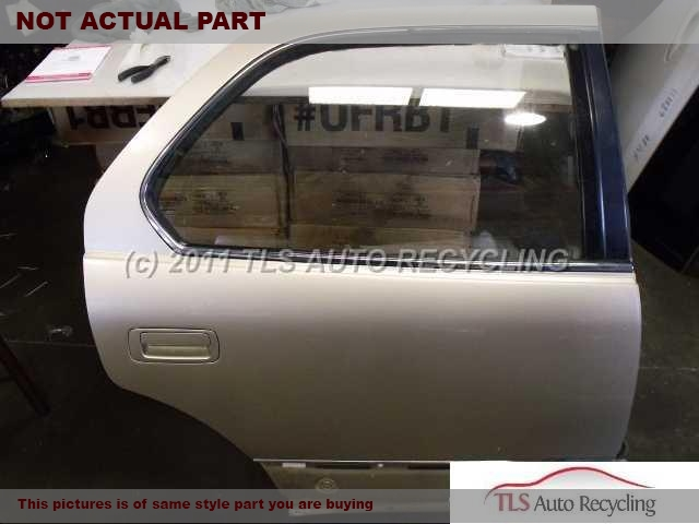 2000 Lexus LS 400 Door Assembly, Rear side. CENTER SECTION HAS SCRATCH BLACK PASSENGER REAR DOOR