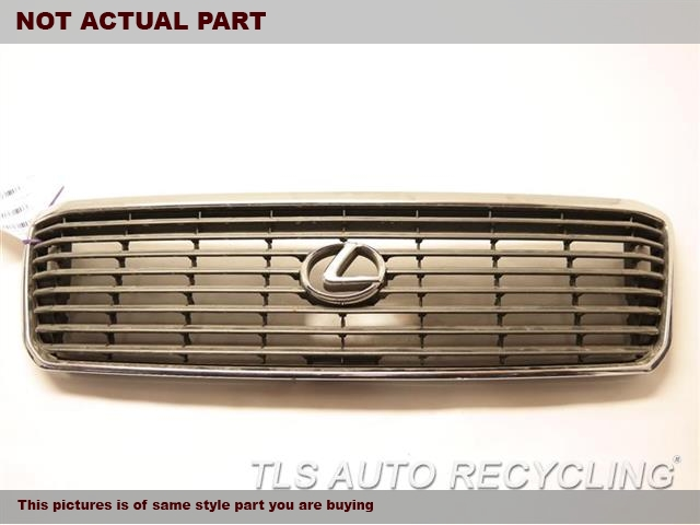 2000 Lexus LS 400 Grille. UPPER SECTION HAS A BIG SCRATCH ON THE CHROME  MINOR MARKS IN THE MIDDLE SECTIONCHROME/GRAY GRILLE 53100-50100