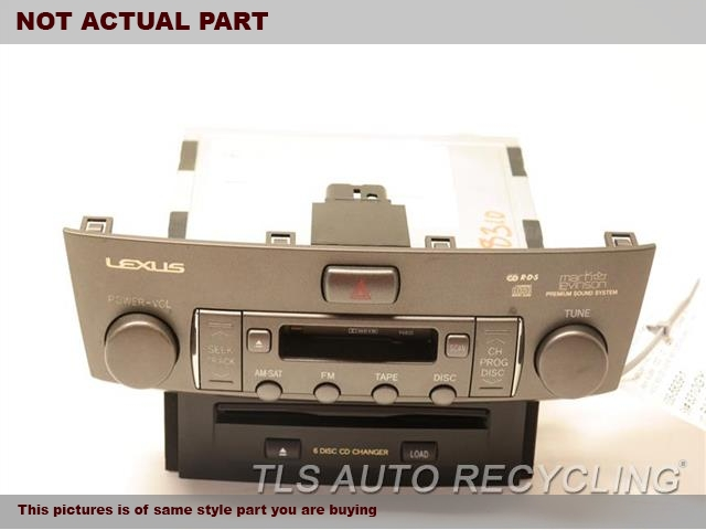 2004 Lexus LS 430 Radio Audio / Amp. RECEIVER, 6 SPEED TRANSMISSION PACK