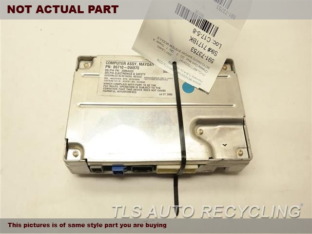 2007 Lexus LS 460 Chassis Cont Mod. 86710-0W070 MAYDAY SYSTEM MODULE