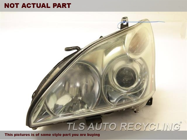 2004 Lexus RX 330 Headlamp Assembly. UPPER TAB DAMAGE DRIVER HID HEADLAMP 81185-48210