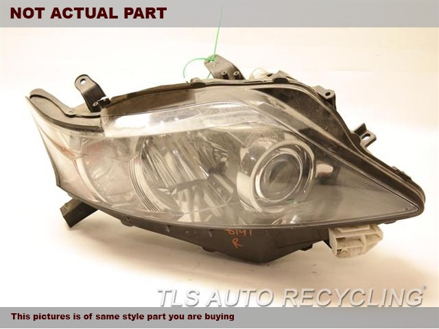 2010 Lexus RX 350 Headlamp Assembly. UPPER TAB DAMAGE 81193-48080RH,HALOGEN, R. NIQ