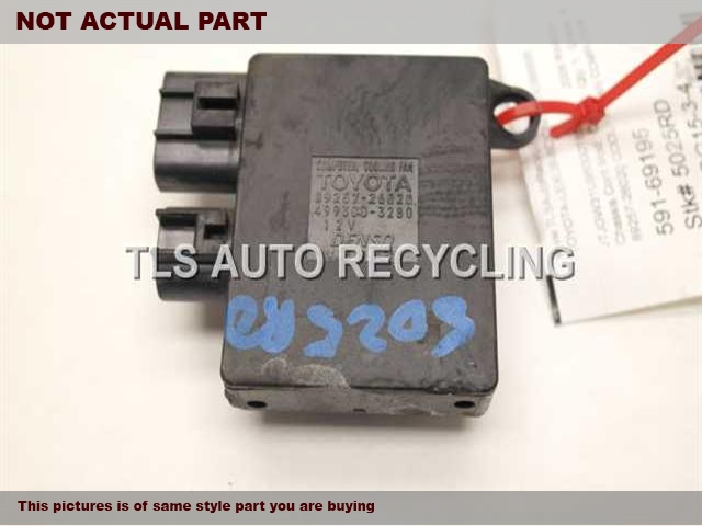 2013 Toyota Highlander Chassis Cont Mod. 89257-26020 COOLING FAN COMPUTER